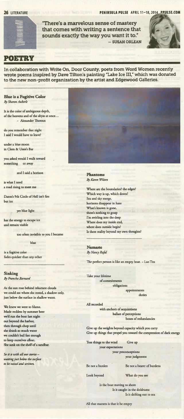Web Image of Poems Inspired by Lake Ice III
